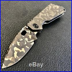 Mick Strider SMF Knife CCKS California Custom Knife Show Hurricane Camo NEW EDC