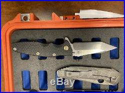 Mick strider custom, Hinderer, Spyderco, plus Case Every Knife In The Pic