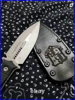 Microtech Borka SBD D/E Knife Apocalyptic M390 BNIB with Leather Sheath