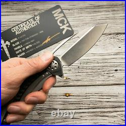 Microtech Marfione Matrix extremely rare Folding Knife M390/CF