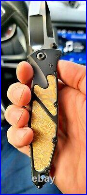 Microtech Marfione Socom Elite with mokume inlays and mirror polished blade! Mint