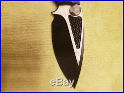 Microtech Marfione Strider Custom DOC Flipper Knife Carbon Fiber Folding Knife