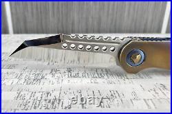 Microtech Marfione Warhound M390 Mirror Polish Custom Folding Pocket Knife USA