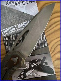 Microtech Sigil Mk6 Flipper Pocket Knife Tit Apocalypic Finish & Copper