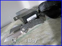 Microtech marfione custom matrix knife hand ground two tone stonewash flipper