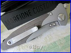 Microtech marfione custom socom bravo hp tanto compound grind folding knife