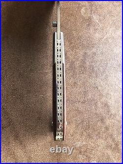 Mike Sanders custom made Folding Liner lock collector knife