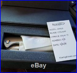 NEW Koenig Arius Knife, absolutely perfect and stunning