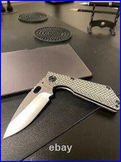 NEW Mick Strider Knives SnG Gunner Grip -Titanium Lock side