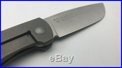 NEW Mosquito Tactical PUPPY PIGGY Integral Edition Ti M390 Satin Camping Knife