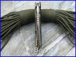 NIB New Kevin Titanium CF M390 Blade Satin Venom Bearing Tactical Camping Knife