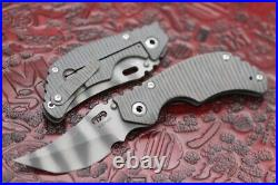 New Authentic Mick Strider MSC Knives Folder KRT Striped Flamed Titanium Persian