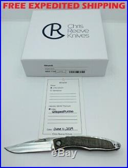 New Chris Reeve Knives Mnandi Striped Platan Inlay S35vn Satin Blade