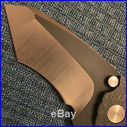 New Custom DIREWARE SOLO M390 Carbon Fiber and Titanium Complex Grind