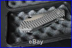New Field Cleaver Heavy Tactical Hunting Flipper Knife D2 Blade & Titanium