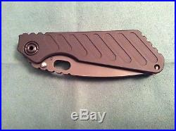 New In Box Mick Strider Sng Grooved Aluminum Pvd DLC 20cv Steel 3/4 Grind Knife