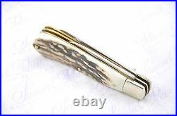 New Two Blade Joseph Rodgers Stag Lambs Foot Sheffield Made Pen/Pocket Knife