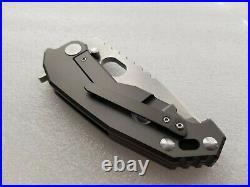 Nocturnal Knives ORB Folder, One-Off Prototype, Stonewashed CPM-4V, Overbuilt