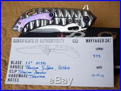 Olamic Wayfarer 247 folder with sculpted polished handle and timascus clip