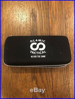 Olamic Wayfarer 247 folding knife, timascus inlay/pivot collars/pocket clip