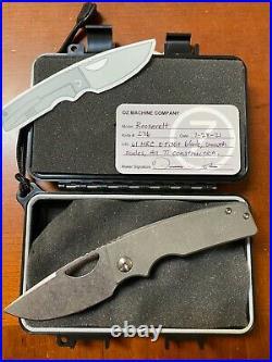 Oz Machine Company Roosevelt #276, All titanium, z-fiNit blade Folding Knife