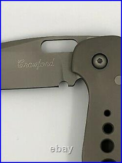 Pat & Wes Crawford CUSTOM Titanium Folding Knife