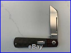 Pena Custom Slipjoint Wharncliffe Barlow Micarta Knife NEW