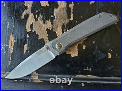 Pena X Series Mula Custom Finished M390 Titanium Frame Lock Thumbstud