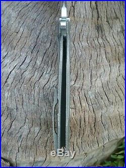 Peter Rassenti Knives Custom One Off Snafu Flipper Knife cts-xhp 3.5 NICE