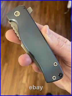 Plunkett Knives Full Custom P3 Harpoon Flipper Folding Knife RARE