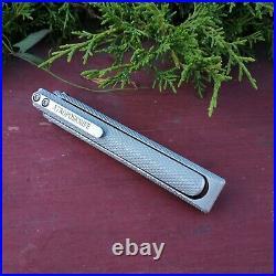 Pocket knife EDC Faun from Atroposknife spear point blade Folding tactical knife