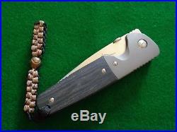 RARE Ernie Emerson CUSTOM TANTO Liner Lock Folder TITANIUM