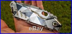 RARE Mick Strider Custom Shop XL Recurve Knife Dazzle Camouflage (MSC, SMF, SNG)