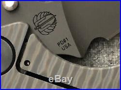RARE! PD1 PD#1 Strider Knives Monkey Edge Frag Pattern MEFP SNG 1-off NOT 3V