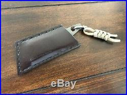REXFORD Knives RUT V3 Titanium Utility Knife With Leather Case And Carabiner