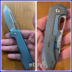Ramon Chaves JB Stout Meg 325 Folding Flipper Knife Collab Custom Mods by Ramon