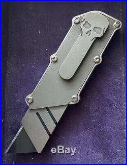Ramon Chaves Knives CHUB Chub Utility Pocket Knife TiTanium Stonewash Finish
