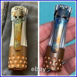 Ramon Chaves Knives Custom Flashlight Torch Clip Cobalt Limited Edition