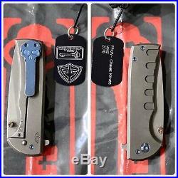 Ramon Chaves Knives Ferrum Forge Veloz Flipper Pocket Knife Dogtag & Pouch