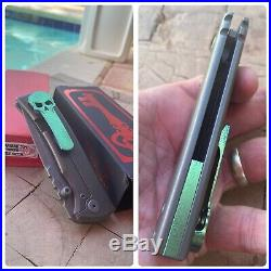 Ramon Chaves Knives Ultramar 229 Titanium Tanto Knife Custom Hi Voltage Mod