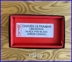 Ramon Chaves Ultramar Liberation Street Flipper Titanium Green Micarta PVD Blade
