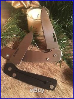 Rare Custom Tactical Folding Knife Set Of 2 By John Greco Knives 8670 Steel USA