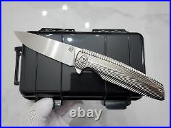 Rare custom made specter m390 steel blades titanium handle tactical pocket knife