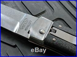 Rare folding pocket outdoor knife Predator 241 Black ABS Mikov Czech Republic