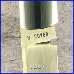 Ray Cover Sr. Custom Slipjoint Folder Knife stag scales, never carried or used