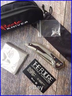 Reate Tashi Bharucha The Future Integral Titanium knife M390 blade