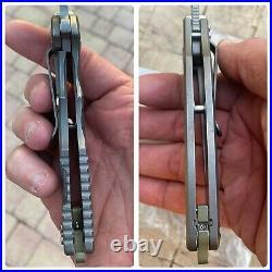 Rick Hinderer Knives Custom Jurassic WiFi Prototype Flipper Pocket Knife S35VN
