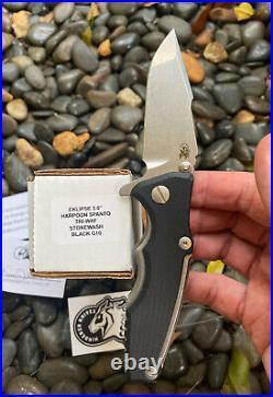 Rick Hinderer Knives RHK Eklipse 3.0 Harpoon Spanto Knife TriWayPivot Black G10