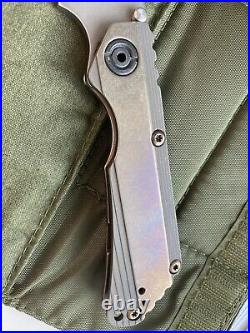 STRIDER KNIVES Duane Dwyer Custom SnG Full Ti Bronze anodized. PSF27 steel