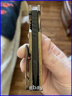 Samuel Morrish Full Custom Vanguard PROTOTYPE Flipper Folding Knife CPM-M4 RARE